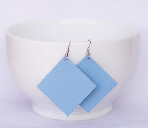 Baby Blue Square Earrings