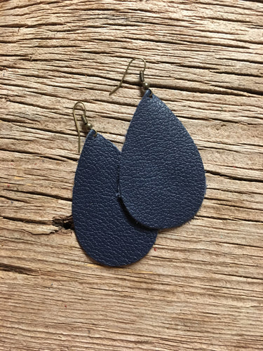 Navy teardrop Earrings