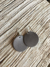 Pewter Circle Earrings