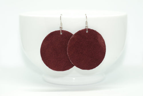 Plum Circle Earrings