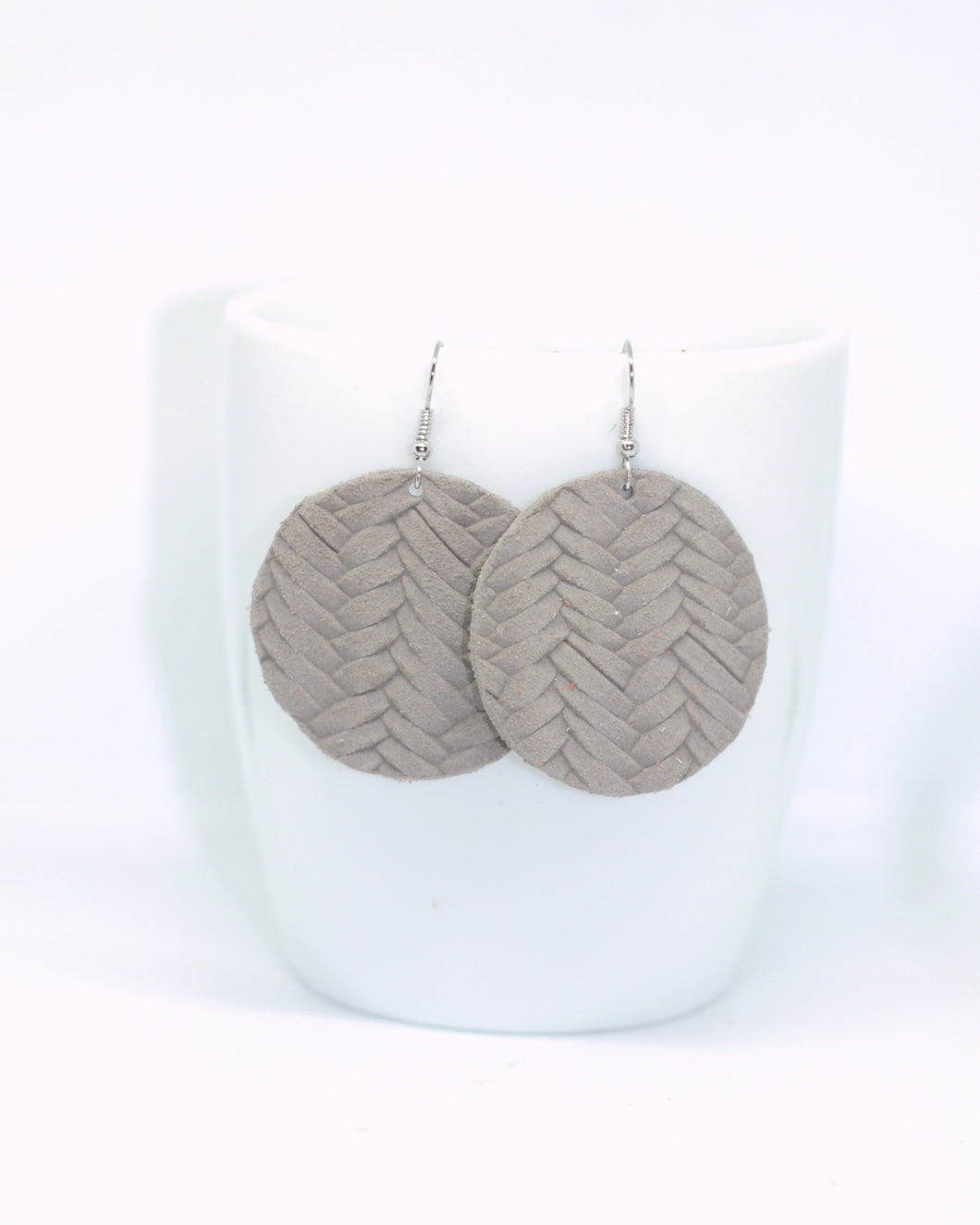 Grey Fishtail Embossed Circles