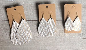 Gold Chevron Teardrops