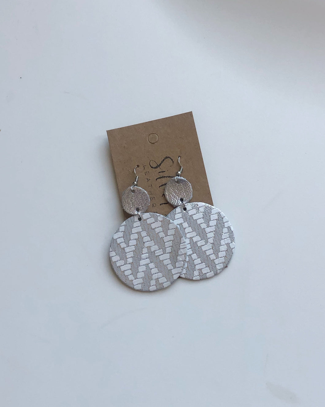 Silver Chevron and Gun Metal Enso