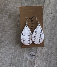 White Swiss Dot Teardrop