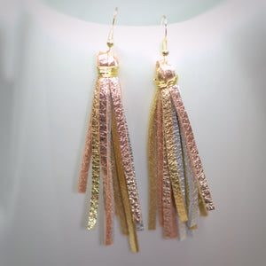 Tri Colored Metallic Tassels