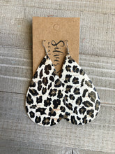 Snow Leopard Cork Teardrops