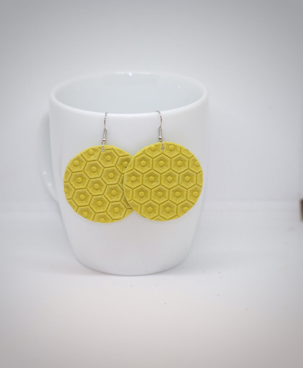 Yellow Honeycomb Circles