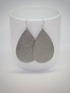 Gun Metal Teardrop Earrings