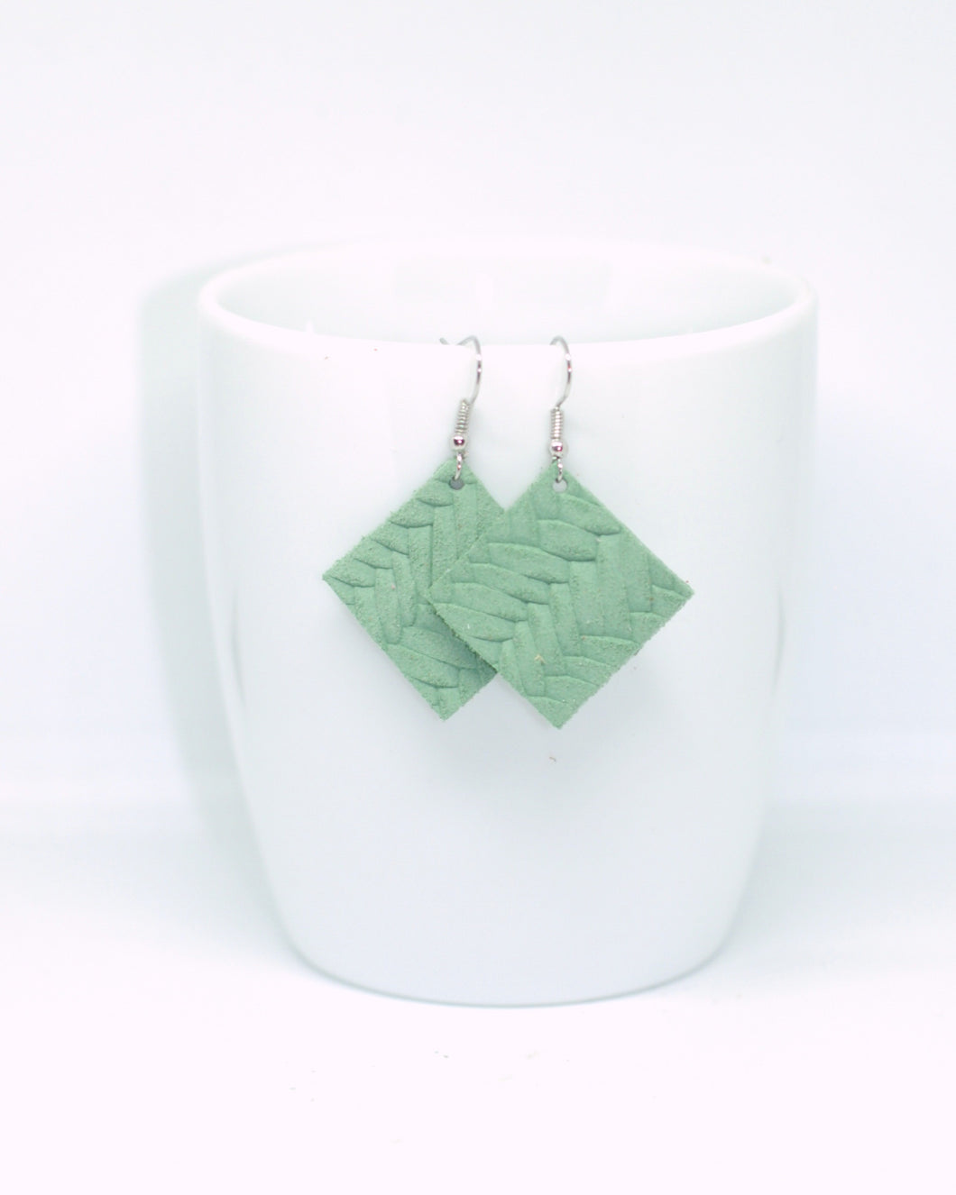 Mint Fishtail Embossed Squares