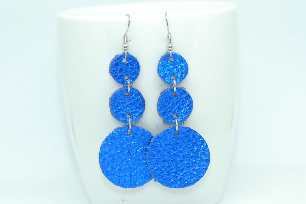 Royal Blue Triple Drop Earrings