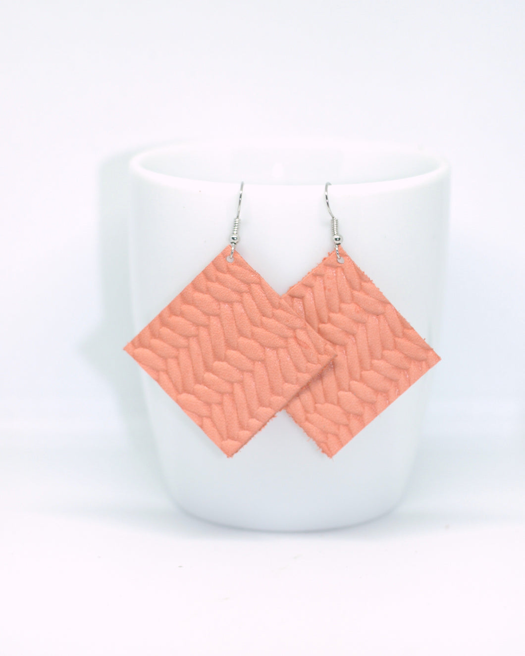 Coral Fishtail Embossed Squares