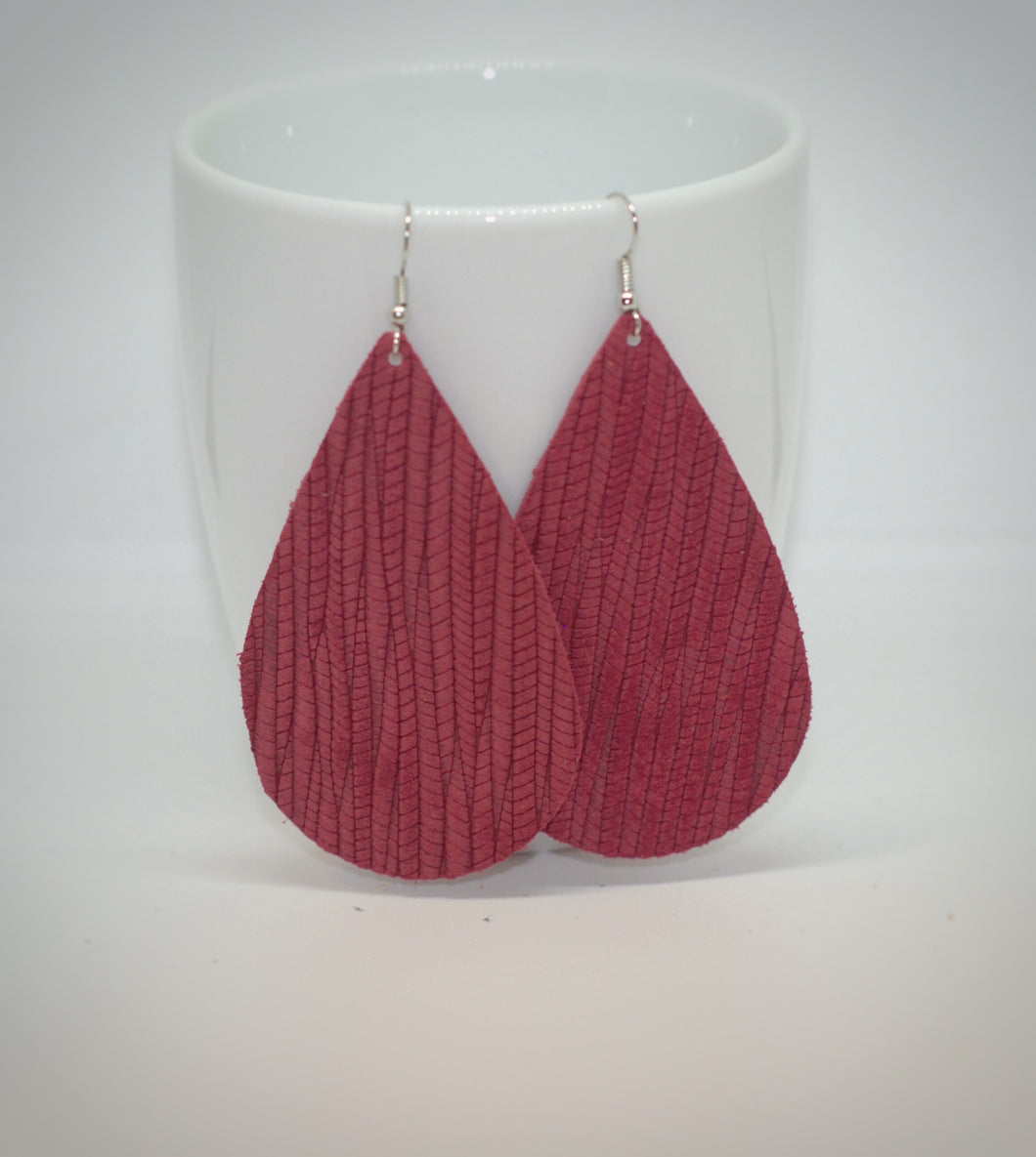 Raspberry  Palm Leaf Teardrops