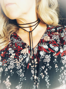 Long Wrap Leather Necklace
