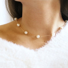 Satellite Pearl Necklace - Moondrop Jewelry