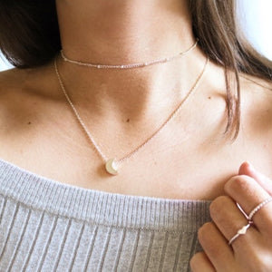 Crescent Necklace - Moondrop Jewelry