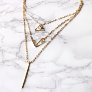Trinity Necklace - Moondrop Jewelry