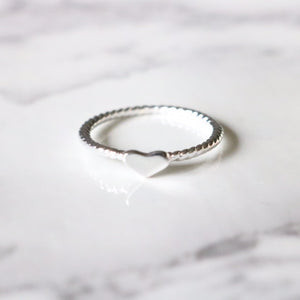 Little Heart Ring - Moondrop Jewelry