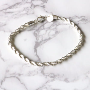 Silver Rope Bracelet - Moondrop Jewelry