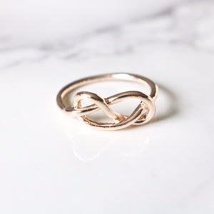 Infinity Knot Ring - Moondrop Jewelry