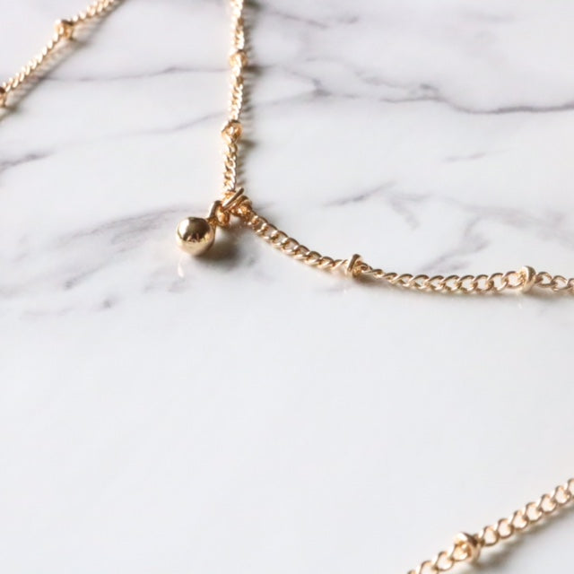 Dainty Double Lariat - Moondrop Jewelry