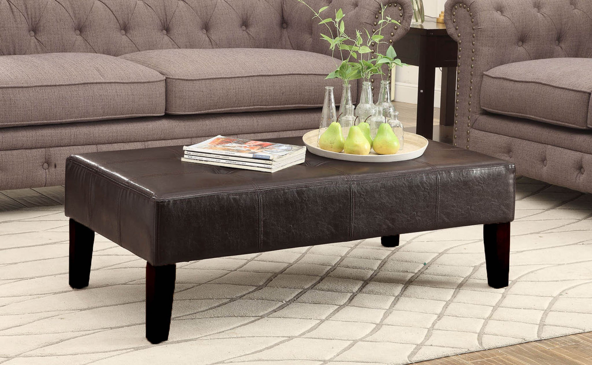 Faux Leather Coffee Table – Aspen Leaf Specialties