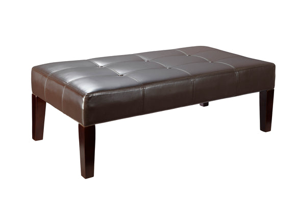 Large Faux Leather Coffee Table