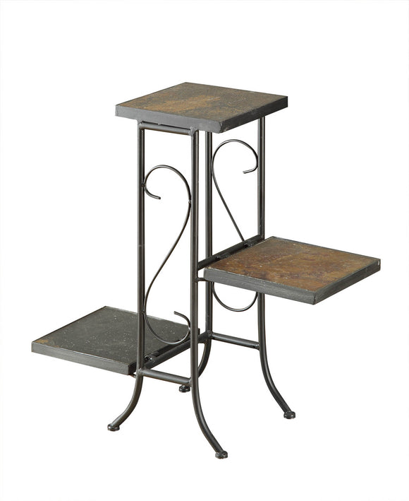 Slate Topped 3 Tier Plant Stand