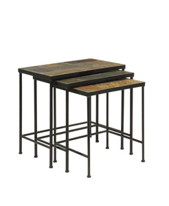 Slate Topped 3 Piece Nesting Tables