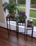 3 Piece Slate Square Plant Stands