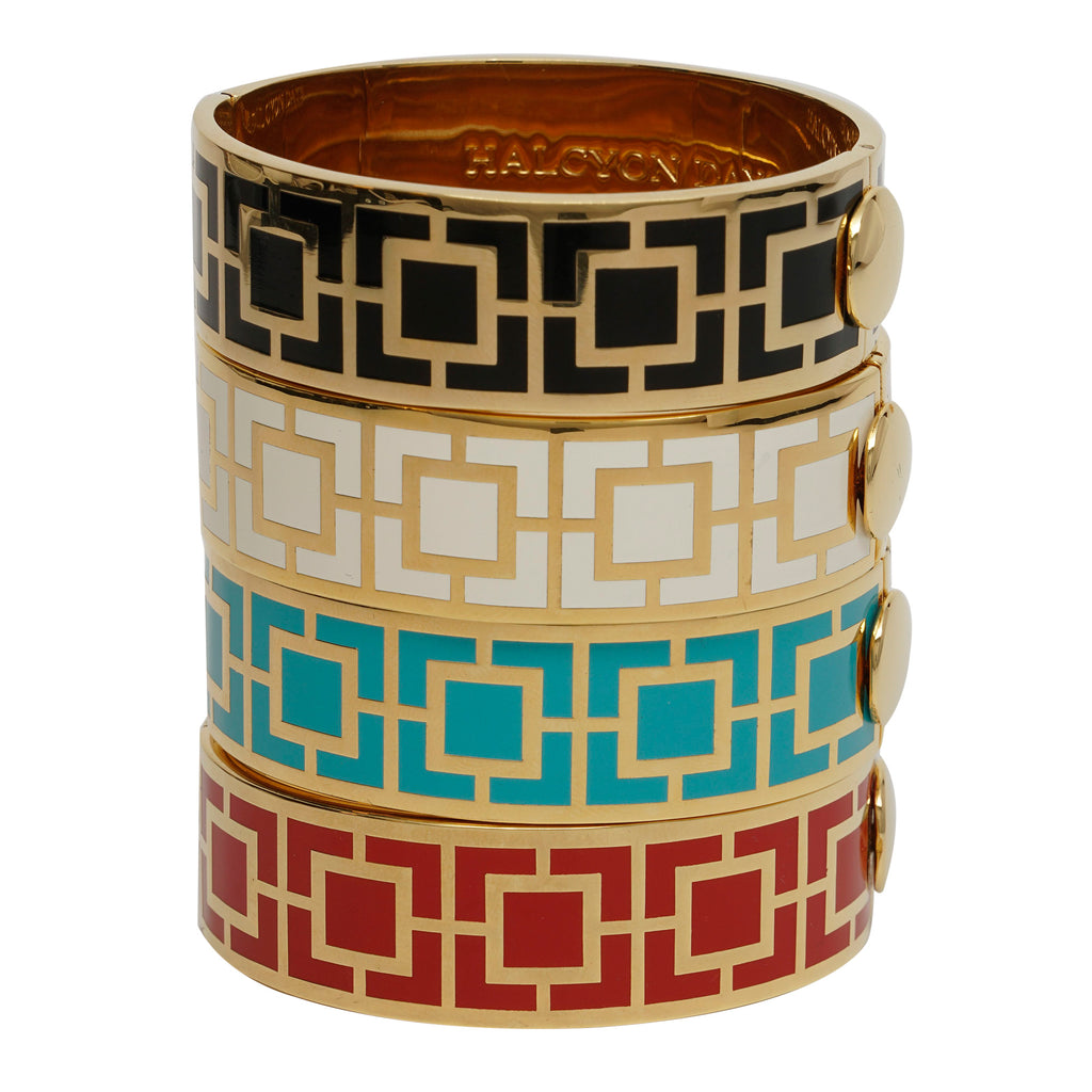 Halcyon Days Maya Hinged Bangle