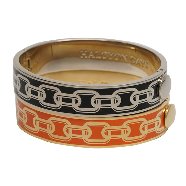 Halcyon Days Chain Hinged Bangle