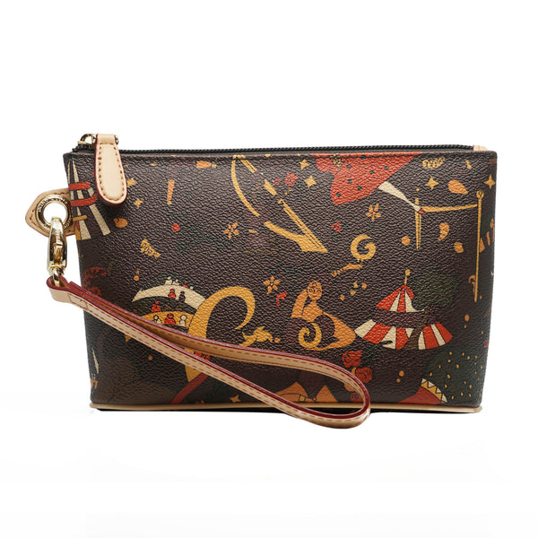 Wristlet Cosmetic Case Brown
