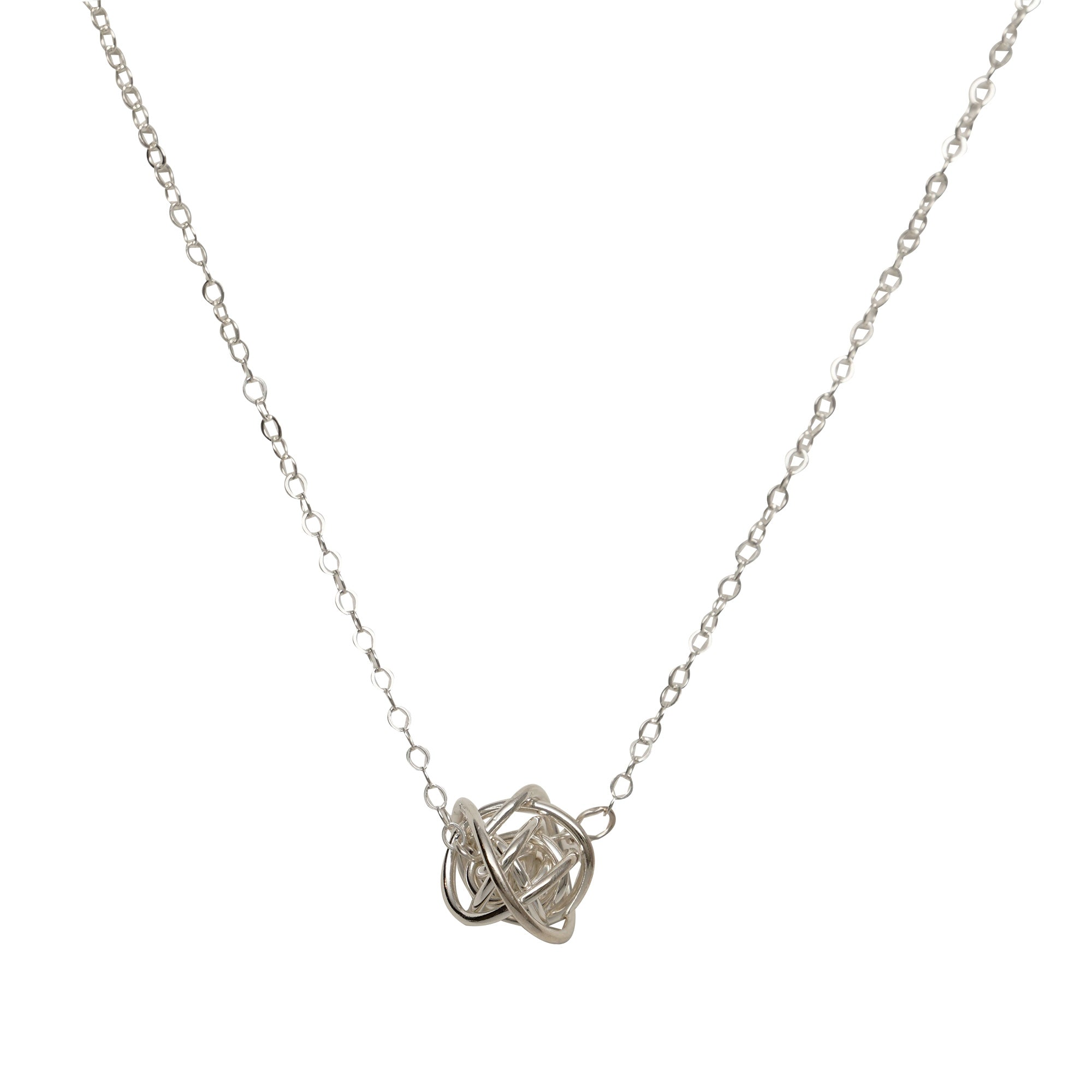 jewellery knot pendant open necklace sterling silver necklaces simply zoom