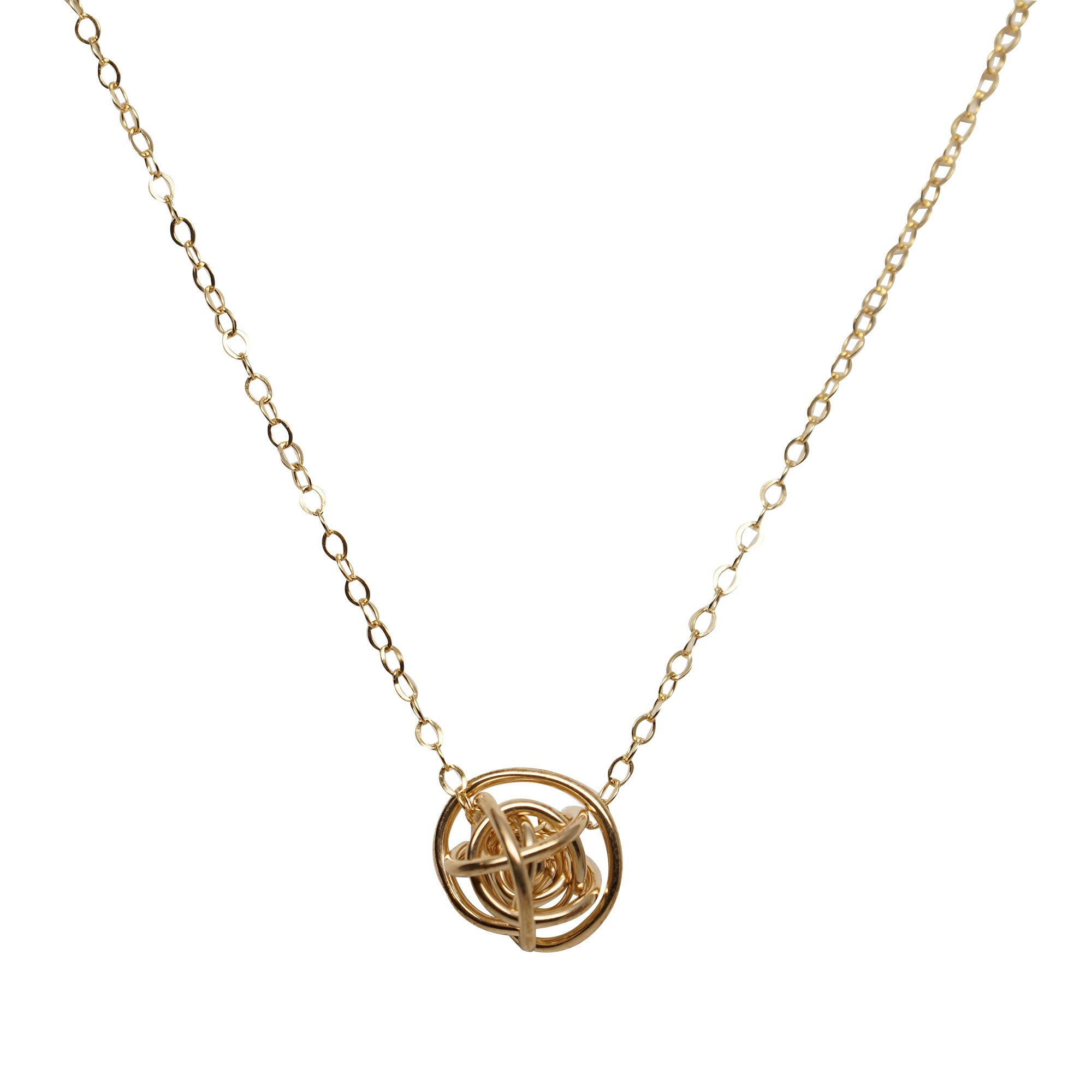 knot gold necklace us icing