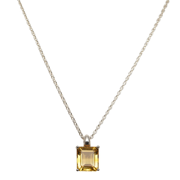 Emerald Cut Pendant