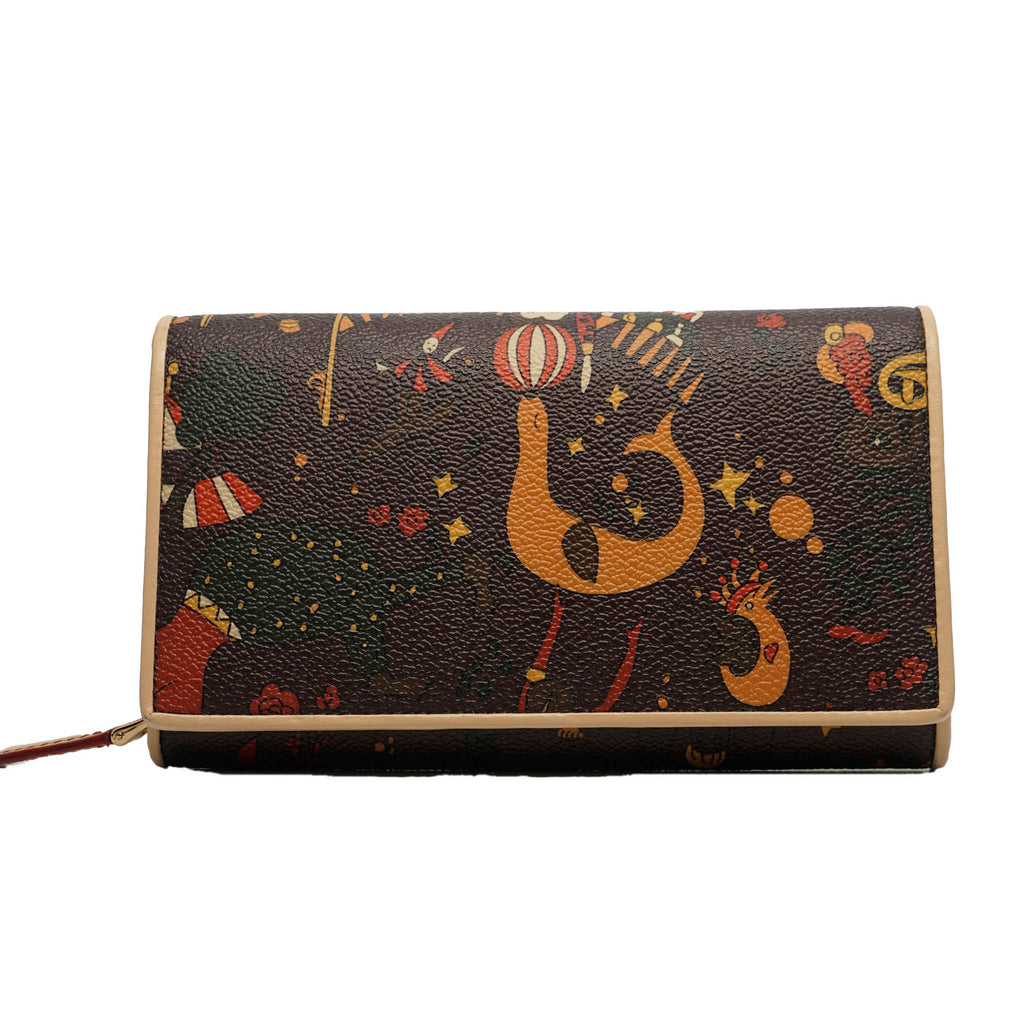 Half Snap Zippered Wallet