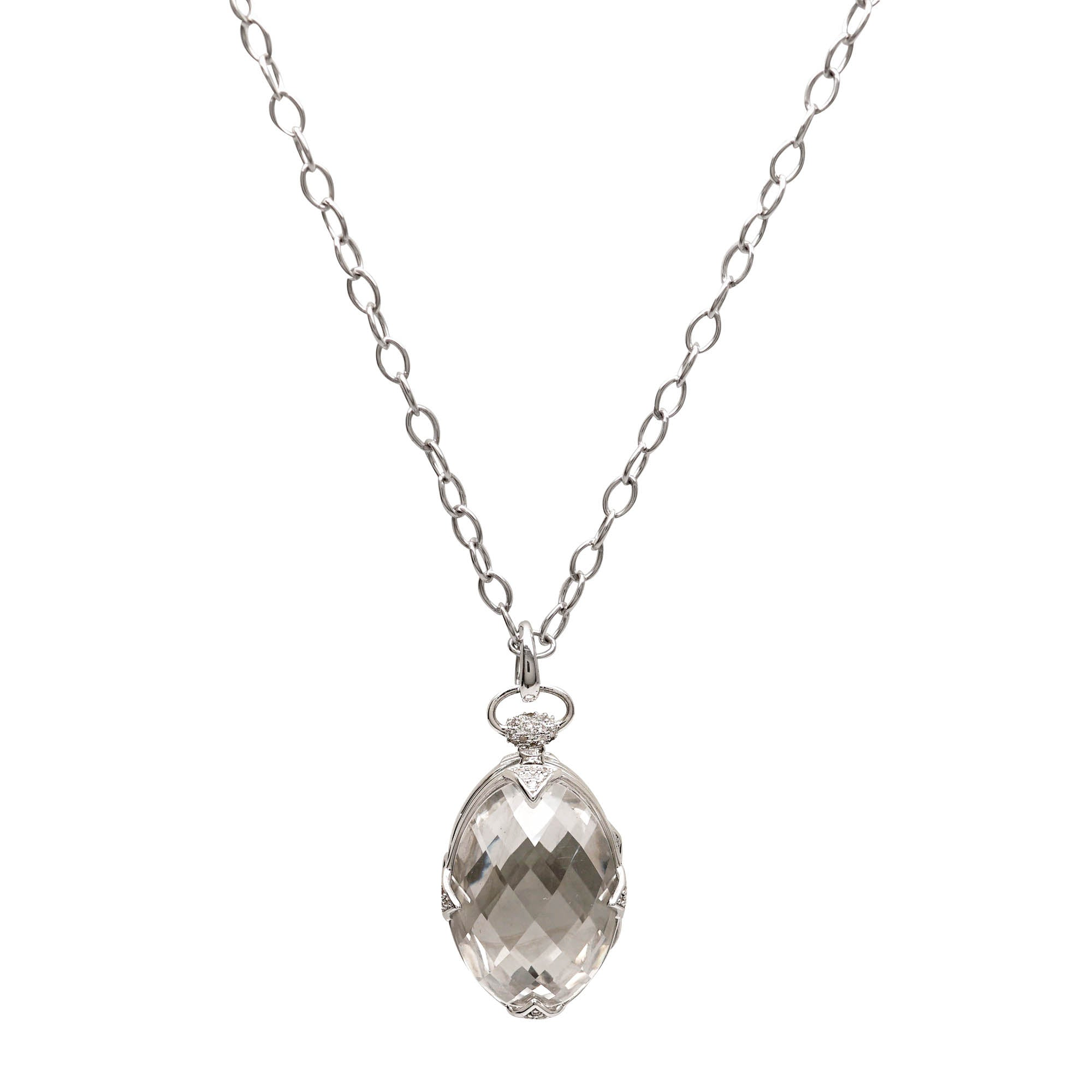 brave silver capped collections necklace pendant stone crystal rock over products