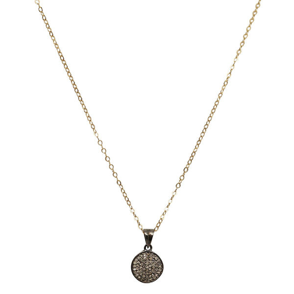 Diamond Circle Disks Necklace