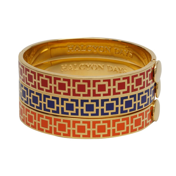 Halcyon Days Mosaic Hinged Bangle