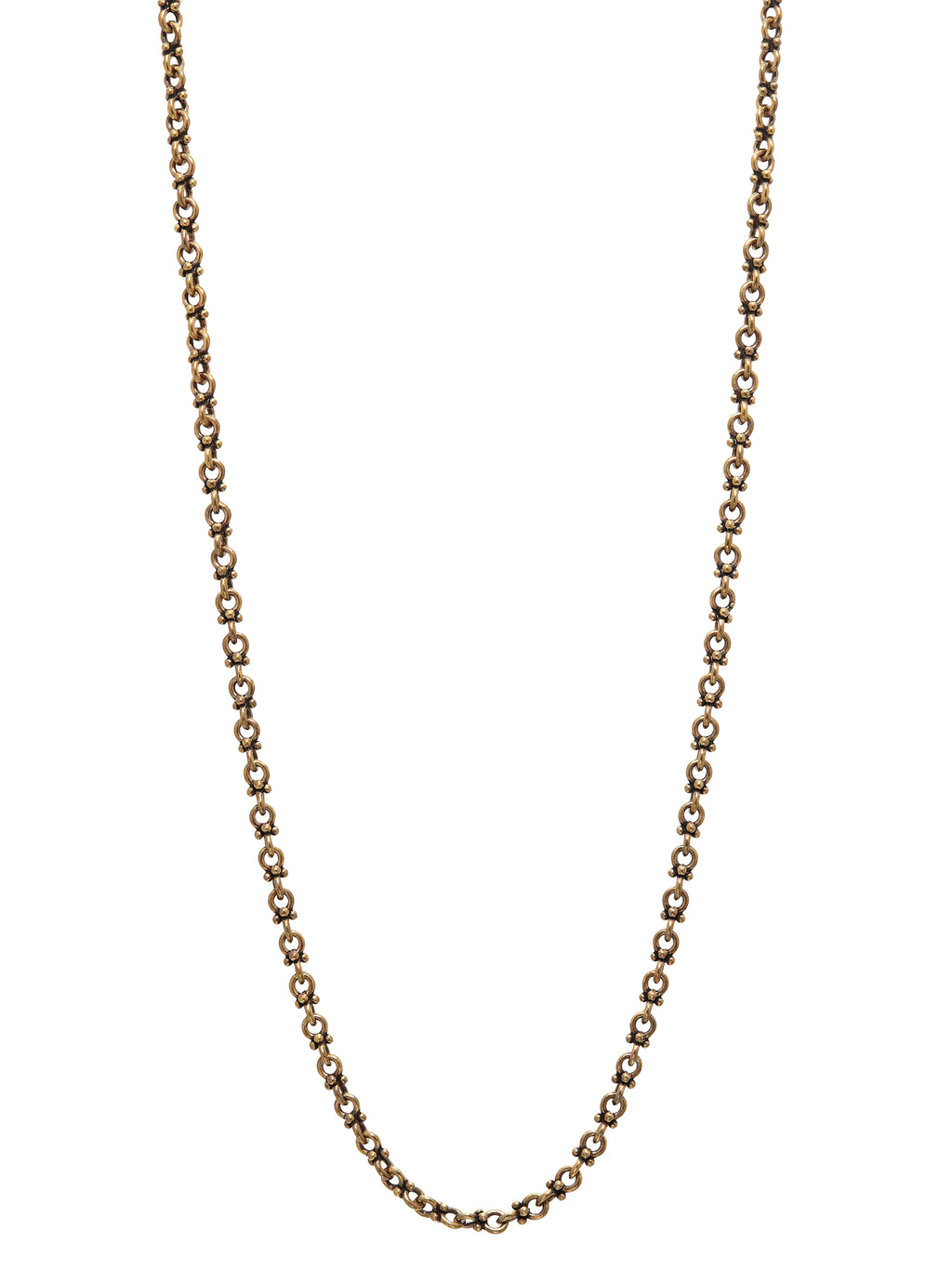 John Varvatos Artisinal Brass Link Necklace