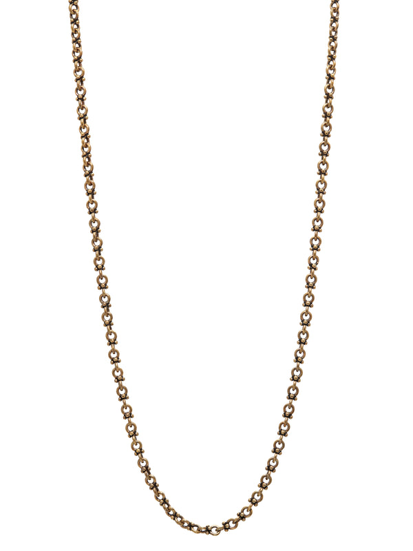 Artisinal Brass Link Necklace