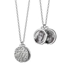 Monica Rich Kosann Round Half-Locket Necklace in Sterling Silver