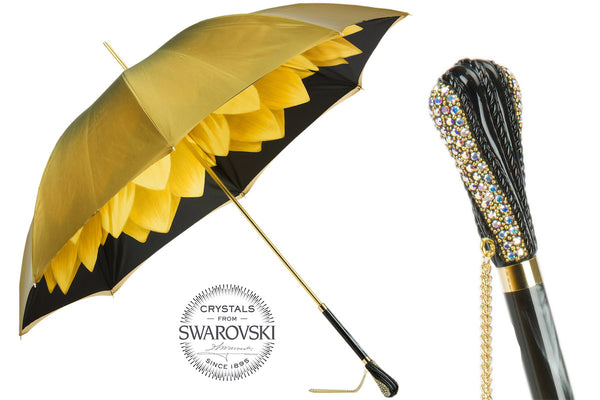 Luxury Gold Dahlia Umbrella