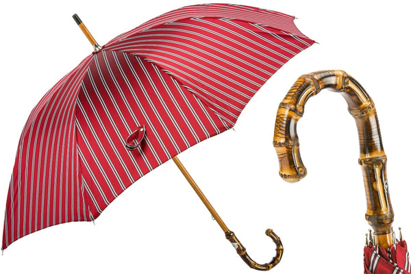 Striped Bamboo Umbrella