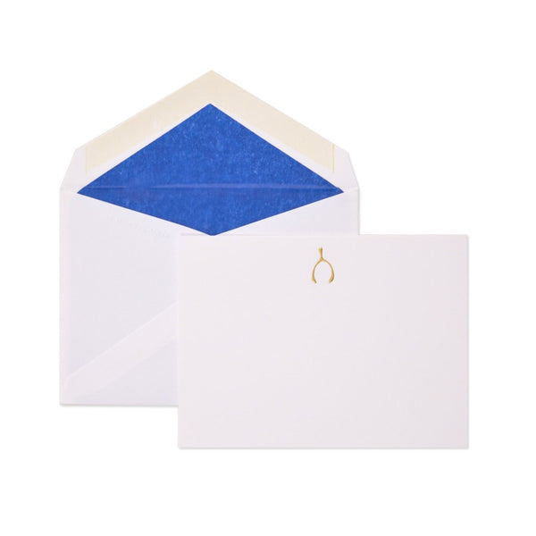 Petite Gold Wishbone Card