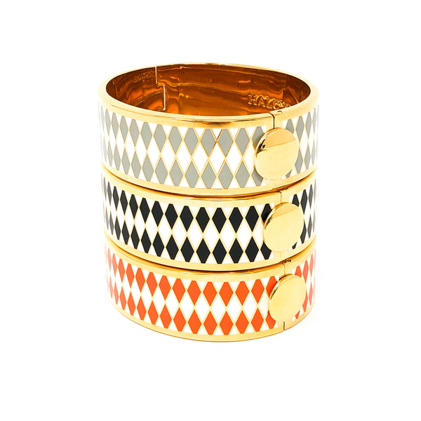 "Halcyon Days ""Parterre"" Hinged Bangle"