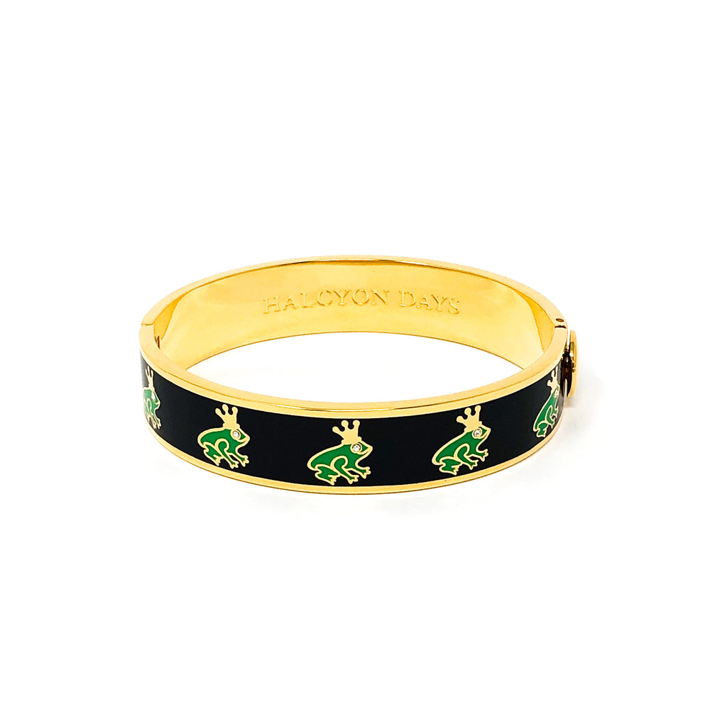 "Halcyon Days ""Frog Prince Sparkle"" Hinged Bangle"