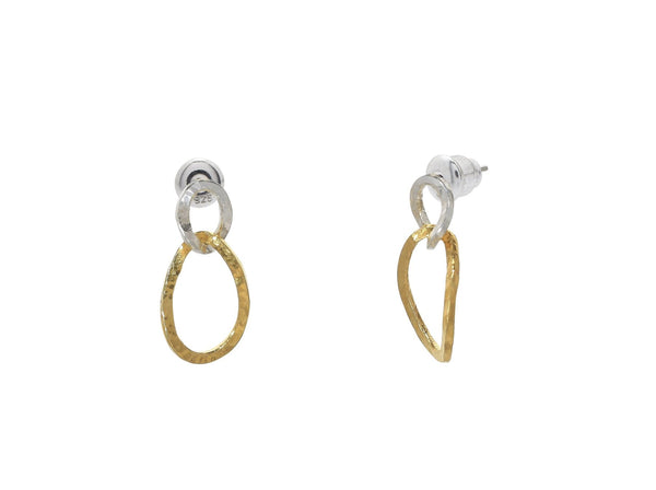 Gurhan Silver Twist Drop Earrings