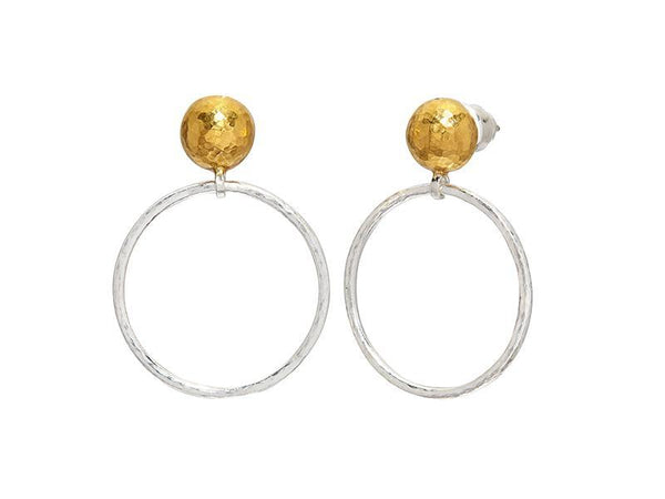 Gurhan Silver Hoopla Earrings