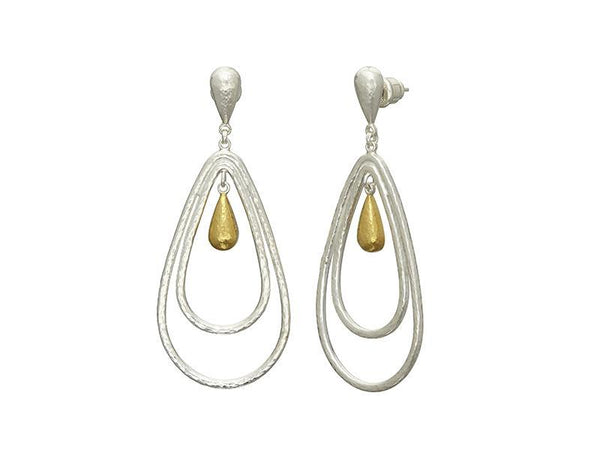 Gurhan Spell Pear Silver Earrings